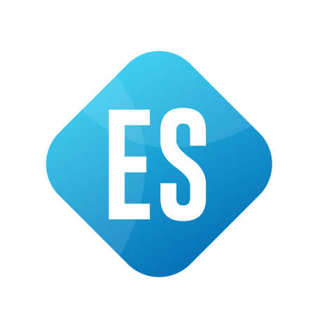 ES Letter Logo Design With Simple style