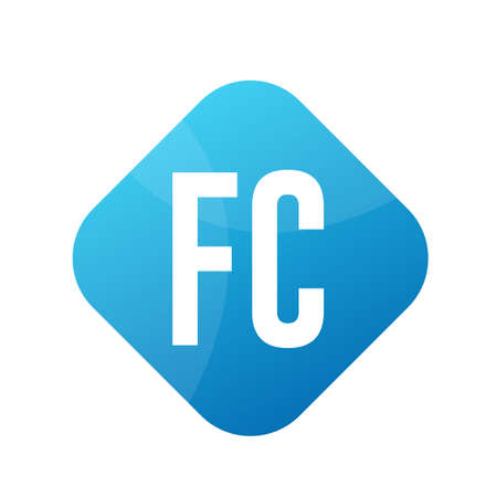 FC Letter icon Design With Simple style