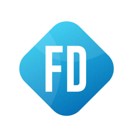 FD Letter icon Design With Simple style