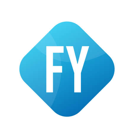 FY Letter icon Design With Simple style Ilustrace