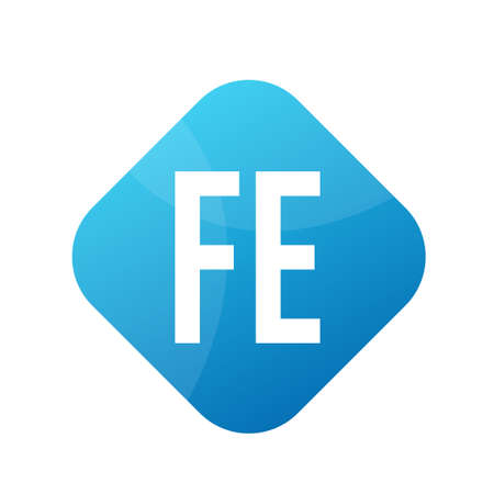 FE Letter icon Design With Simple style