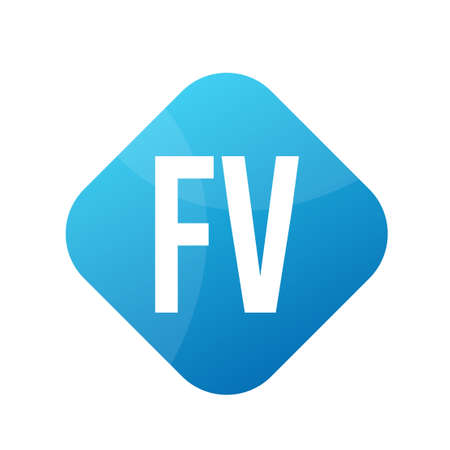 FV Letter icon Design With Simple style Ilustrace