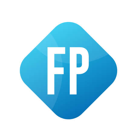 FP Letter icon Design With Simple style