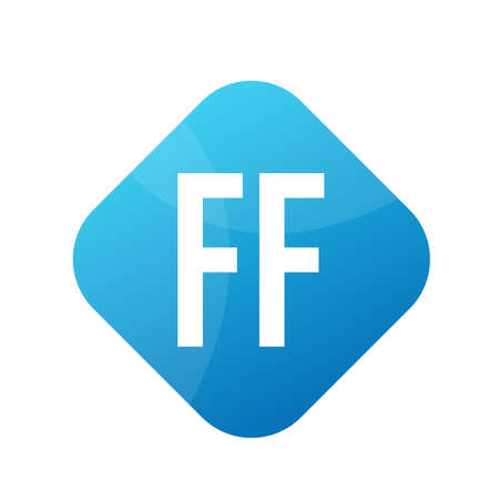 FF Letter icon Design With Simple style