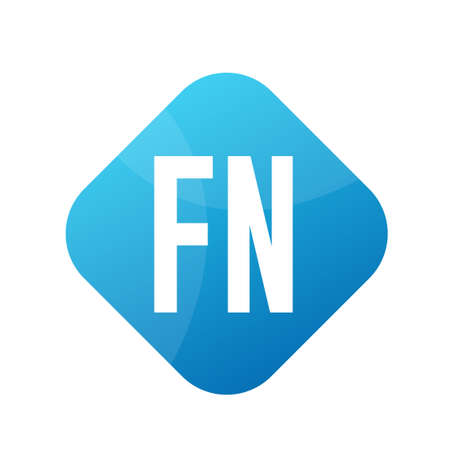FN Letter icon Design With Simple style