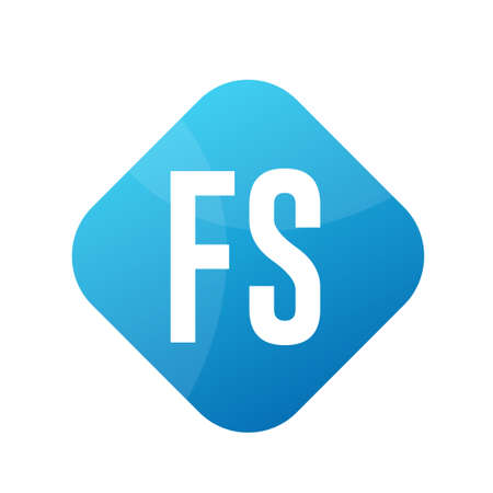 FS Letter icon Design With Simple style Ilustrace