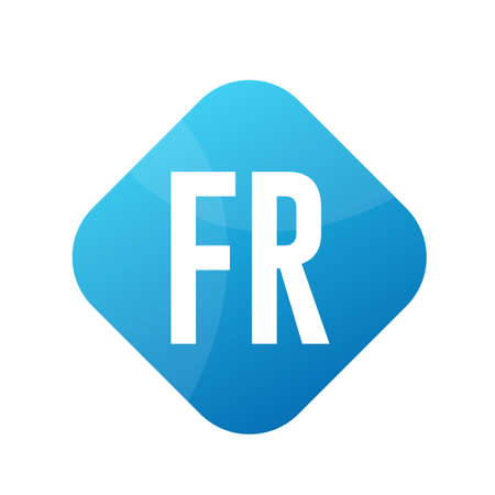 FR Letter icon Design With Simple style