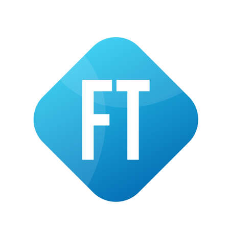 FT Letter icon Design With Simple style