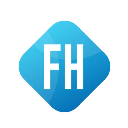 FH Letter icon Design With Simple style