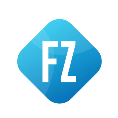 FZ Letter icon Design With Simple style