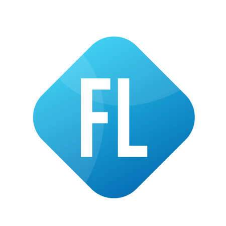 FL Letter Design With Simple style