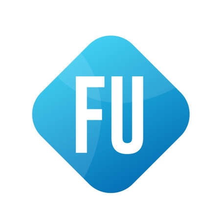 FU Letter Design With Simple style Ilustrace
