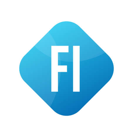 FI Letter Design With Simple style Ilustrace