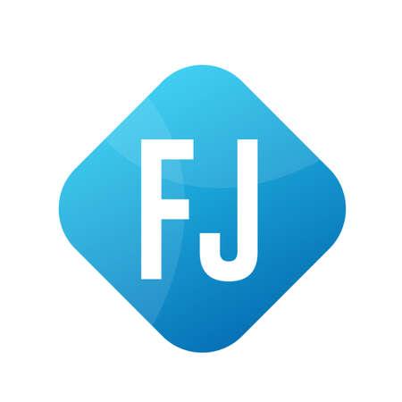 FJ Letter Design With Simple style Ilustrace