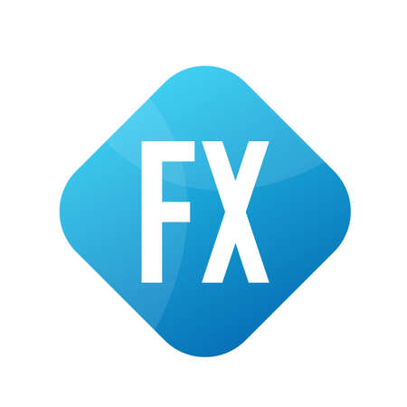 FX Letter Design With Simple style Ilustrace