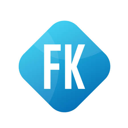 FK Letter Design With Simple style