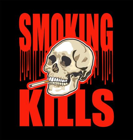 smoking kills: Smoking kills black background