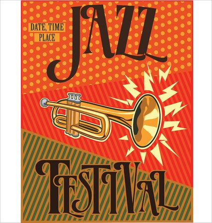 entertainer: Jazz retro vintage background Illustration