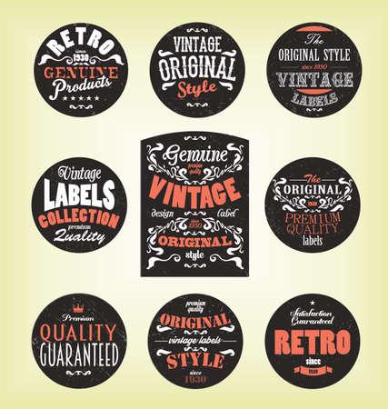 retro: Grunge retro labels map