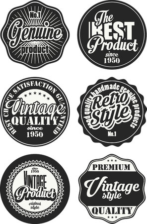 Black and white vintage labels collection 5