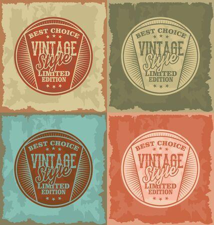 oldfield: Vintage style grunge vector label set 2