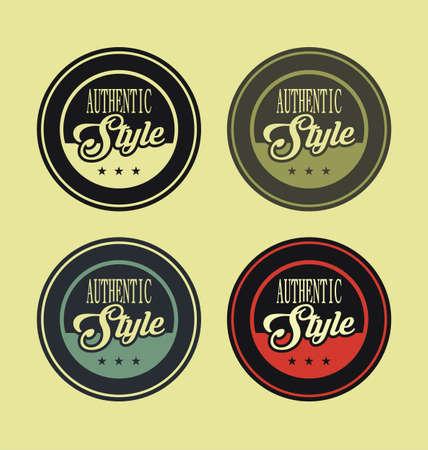 authentic: Authentic style vintage labels Illustration