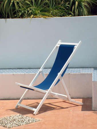 deckchair: deck-chair on a terrace