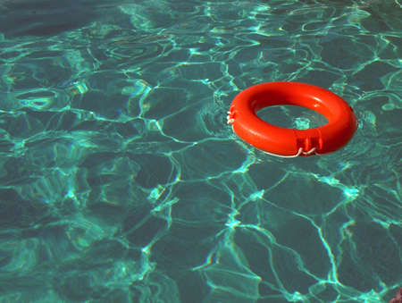 lifevest: life-belt in swimming-pool