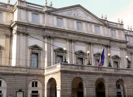 la: La Scala theatre in Milan (Italy)
