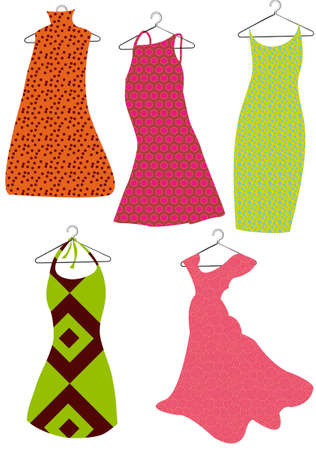 Farbe Vektor Kleider