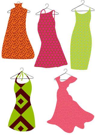 kleur vector jurken