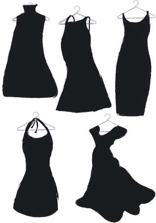 hangers: black dresses