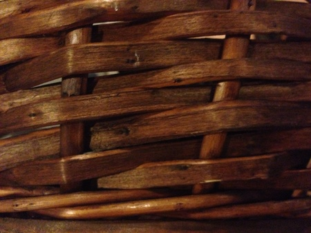 weave: Traditional woven basket texture.