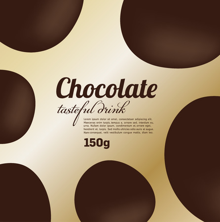 chocolate drop: Abstract chocolate package design, background, vector Illustration