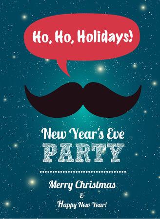 fin de a�o: Feliz Navidad, Fiesta de A�o Nuevo, el dise�o, vector, fondo