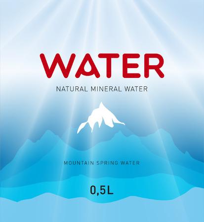 Water label design, background Vector