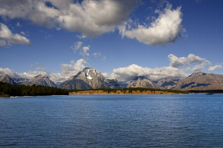 Jackson Lake in Grand Teton National Park Stock Photo - 3629412