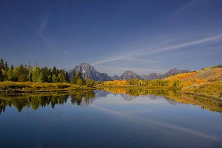 oxbow bend: Oxbow bend in Grand Teton National Park