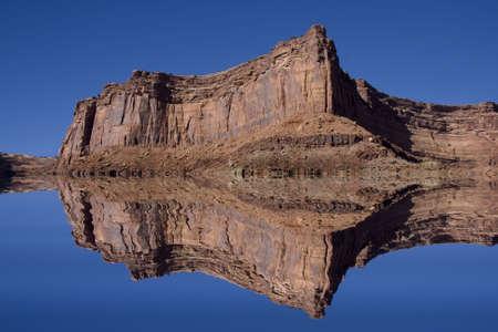 canyonlands national park: Redrock reflections in Canyonlands National Park with deep blue sky Stock Photo
