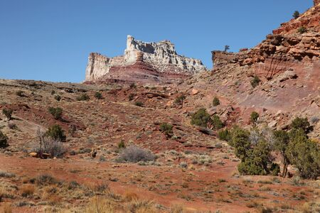 View of red rock formations in San Rafael Swell with blue sky's Stock fotó - 4587615