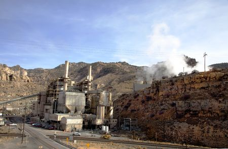 coal fired power plant in the desert photo