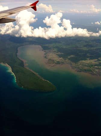 Bali, Indonesia coastal view from airplane Stock Photo - 9466988