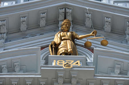 judgements: Justice Statue on Courthouse