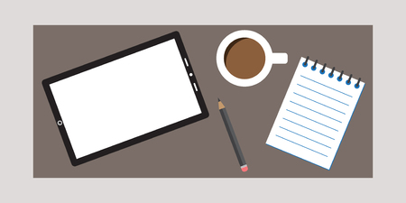 stumped: Research Designer Kit with Tablet Coffee and Notebok