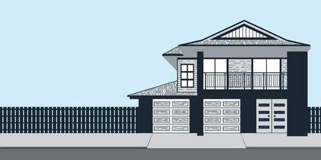Real Estate on Quiet Street Stock Vector - 43891474