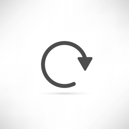to renew: Renew Icon Button in simply Outline Design. EPS10 vector.