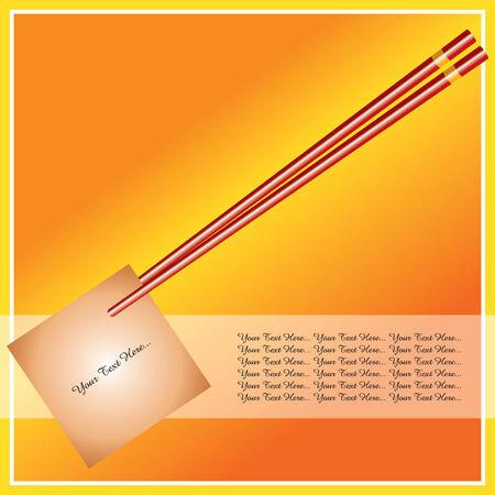 fryer: chopstick with memo