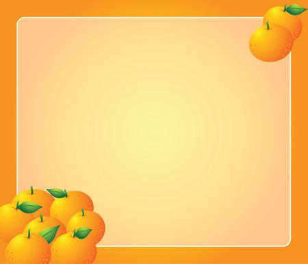 mandarino con bordo Vettoriali