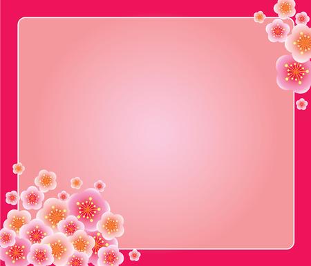 flor de durazno: Bomb�n con la frontera Vectores