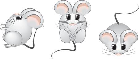 baile caricatura: Los ojos del rat�n Cute abierta 2